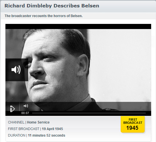 Website mit Audioplayer des Online-Archives der BBC (www.bbc.co.uk/archive/holocaust/5115.shtml